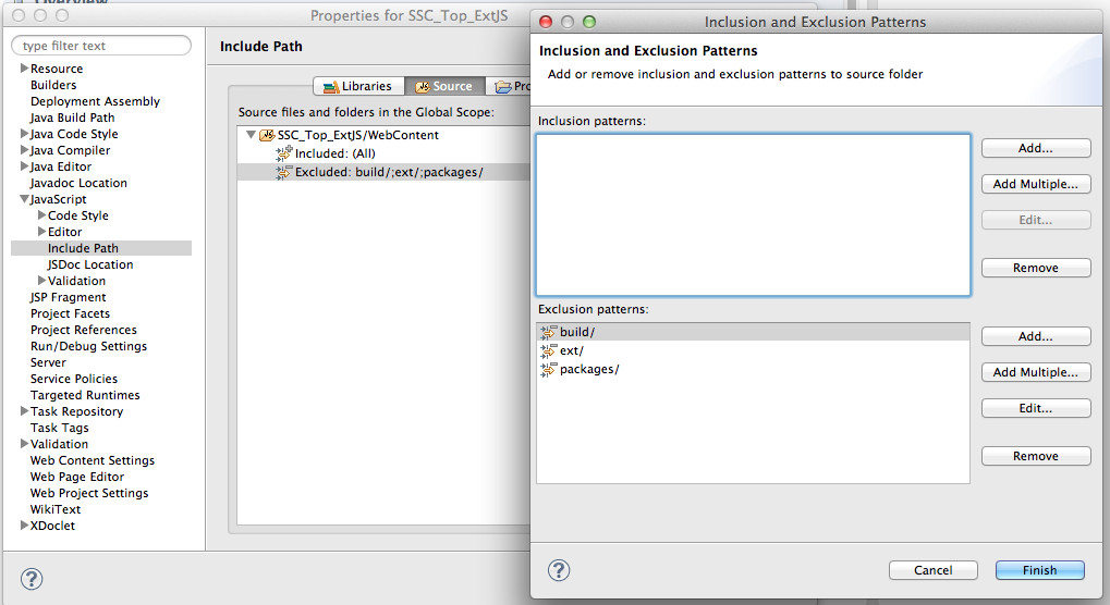 Configuring Eclipse with Apache Tomcat and Ext JS
