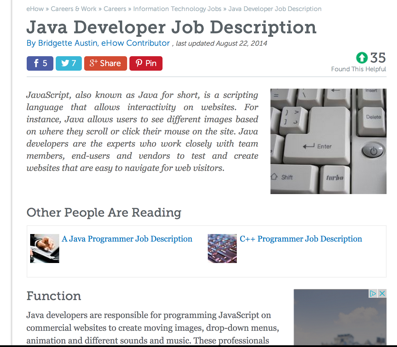Java is short for JavaScript Not Yakov Fains Blog – Java Developer Description