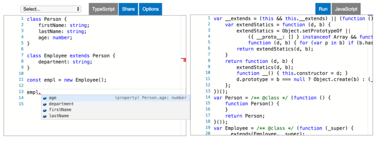 Getting started with TypeScript classes